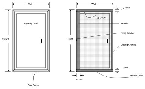 screen door sizes pleated fly screen for doors streme