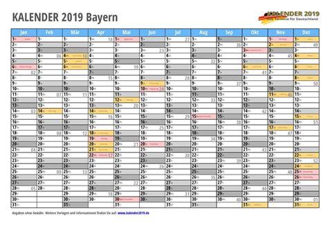 bayern sommerferien 2019 kalender 2019 bayern feiertage schulferien