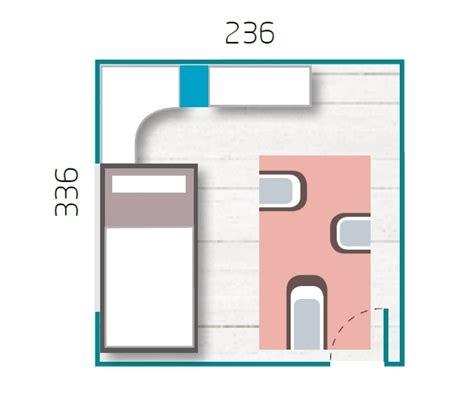 lit gigogne avec bureau chambre ado garcon avec armoire courbe pratique glicerio