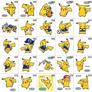 pokemon pan stickers pikachu and of course all the others available