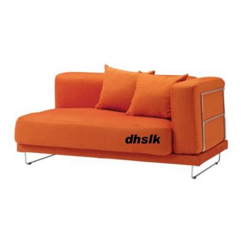 sofa armrest covers ikea ikea tylosand 2 seat 1 arm sofa cover everod orange