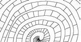 Spiral Coloring sketch template