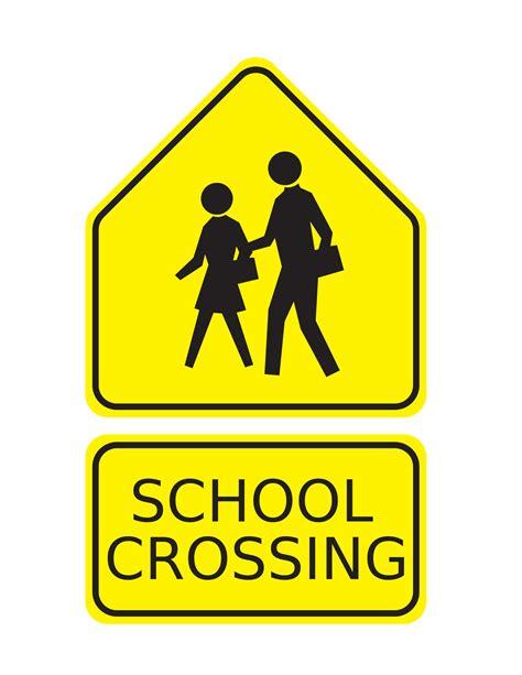 clipart school crossing sign