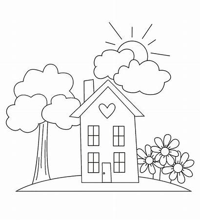 Coloring Pages Garden Gardening Simple Drawing Clipart
