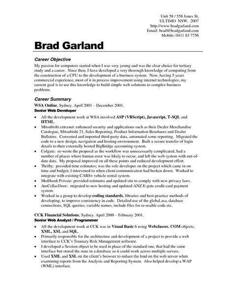 career objective resume examples    training