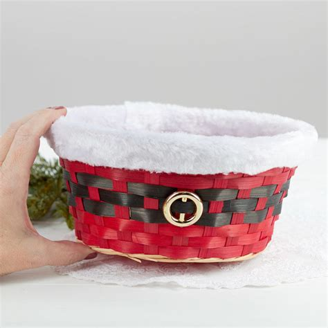 santa belt christmas basket on sale holiday crafts