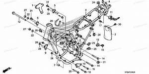 Honda Motorcycle 2008 Oem Parts Diagram For Frame