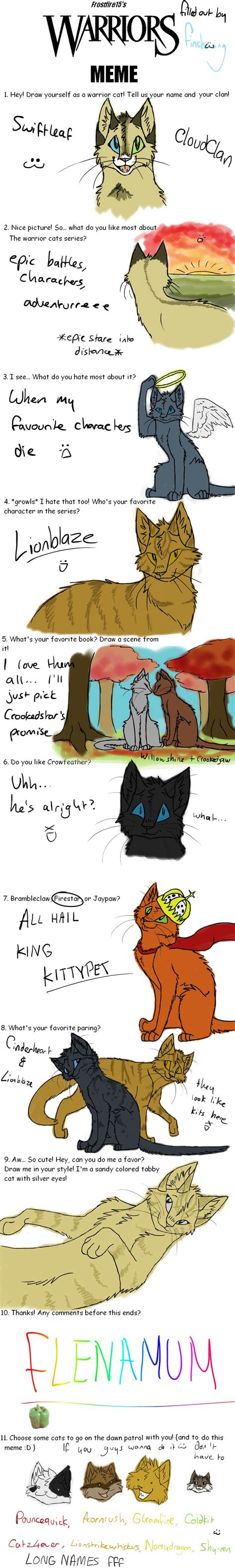 Funny Warrior Cat Quotes Pin it~xD lot's of questions ...