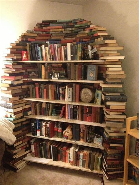 Book Bookshelf this is my bookshelf made out of books in 2019