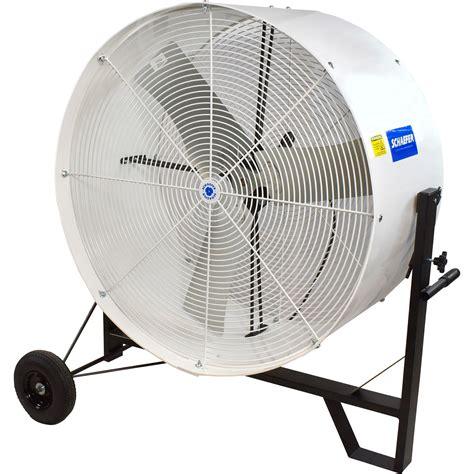tractor supply shop fans schaefer tiltable mobile drum fan 36in 11 000 cfm 1 2