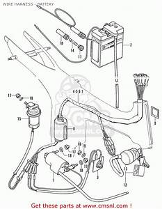 Honda Ss50-d England Wire Harness - Battery