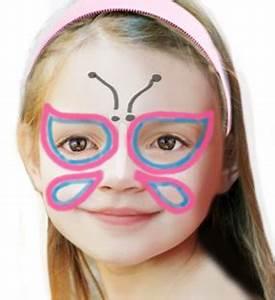 Maquillage Enfant Facile : maquillage de papillon simple maquillage sur t te modeler ~ Farleysfitness.com Idées de Décoration