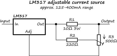 lm317 adjustable current source regulator
