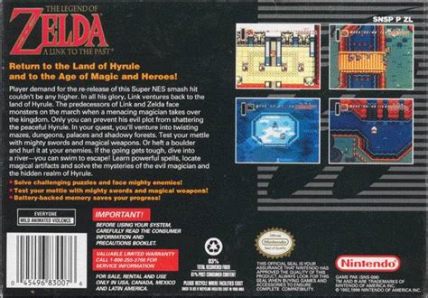 The Legend Of Zelda A Link To The Past Box Shot For Super