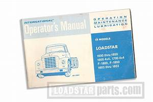 Service Manual International Loadstar 1965