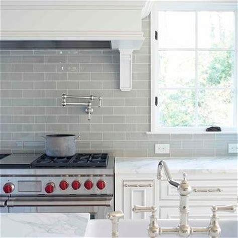 gray glass tile kitchen backsplash gray subway tile backsplash contemporary kitchen l 6904