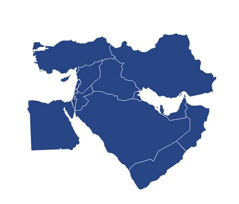 middle east political map south america political