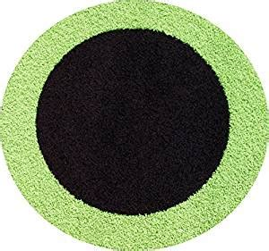 Lime Green And Black Rug by 4 Ft Frieze Border Rug Lime Green Black