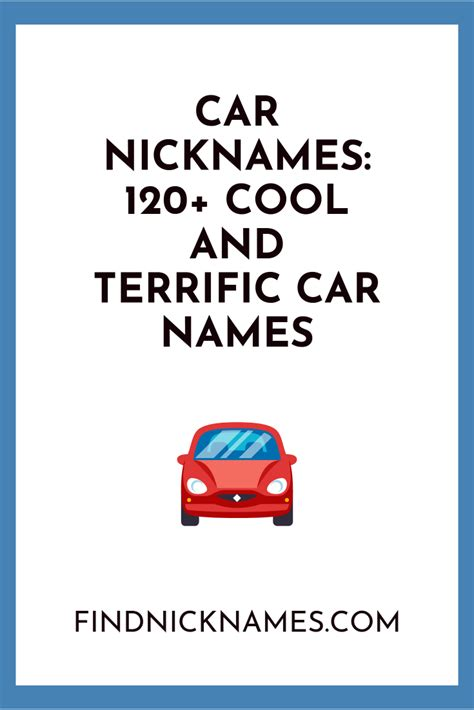 Nicknames For Cars by Car Nicknames 1300 Car Names And Truck Names Best