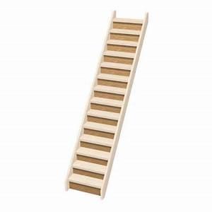 Escalier Bois Pas Cher : contremarche escalier droit normandie sapin castorama ~ Premium-room.com Idées de Décoration