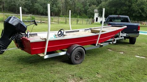 Youtube Flat Bottom Boat by Custom Flat Bottom Stretched Jon Boat And Trailer Build