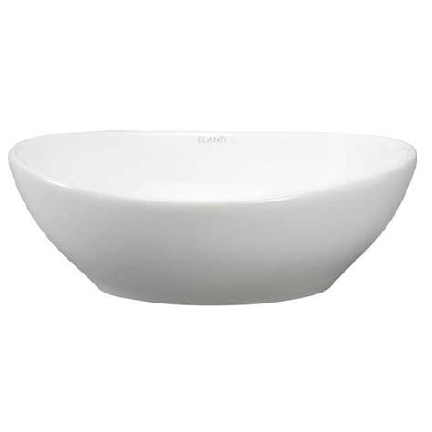 small white vessel sink elanti oval vessel bathroom sink in white ec9838 the