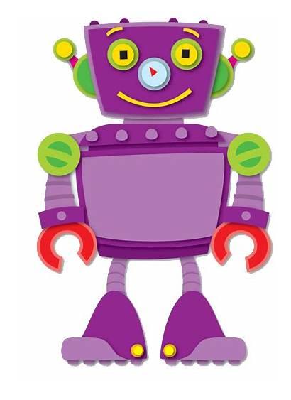 Clipart Robots Counting Robot Clip Bolt Purple