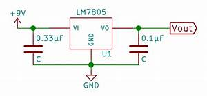 File Lm7805 With Decoupling Capacitor Svg