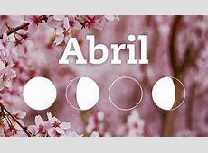 Calendario lunar de abril 2018