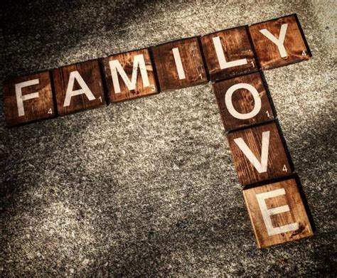 Family Love Scrabble Inspired Wall Art Rustic Wooden