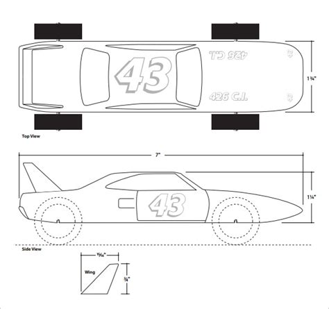 pinewood derby template 27 awesome pinewood derby templates free sle exle format freebiesland