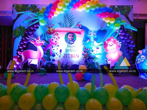 jungle themed birthday party decoration  annamalai hotel