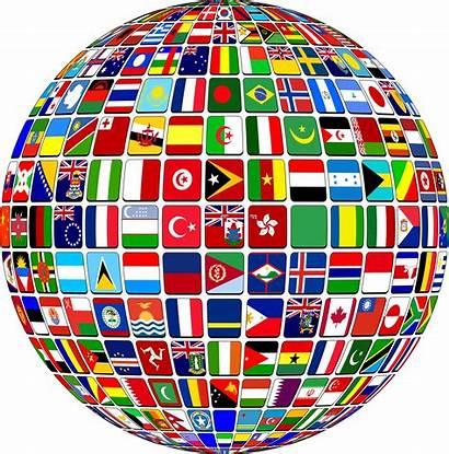 Globe Flag Buttons Clipart