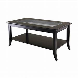 shop winsome wood genoa dark espresso rectangular coffee With dark wood rectangular coffee table