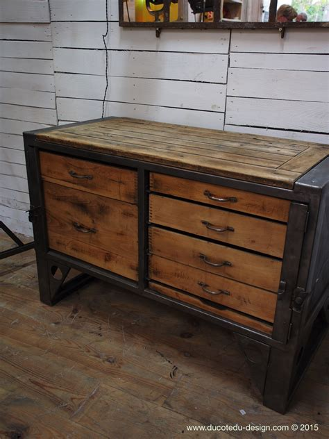 steel bureau pin bureau bois metal on