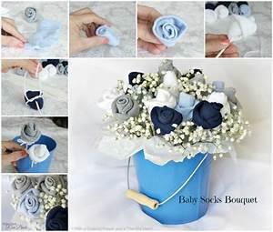 Baby Geschenk Basteln : aus baby kleidung oder socken kann man ein bouquet basteln wie gut man sei geschenk ~ Frokenaadalensverden.com Haus und Dekorationen