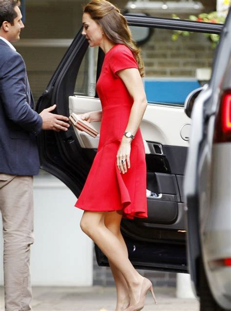 Kate Middleton Pictures Dazzles Red