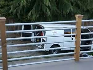 Deck Rails Ideas by Galvinised Metal Deck Railing Youtube