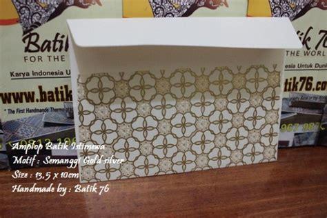 jual amplop batik indonesia motif pattern semanggi perak