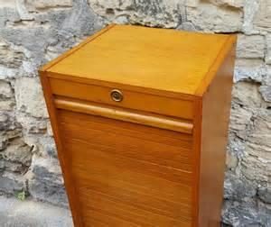 Meuble Rideau Coulissant Bois by Broc Co Bureau D 233 Coliers Secr 233 Taire Vintage Chaise