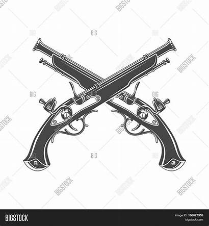 Musket Pistol Steampunk Vector Template Victorian Armoury