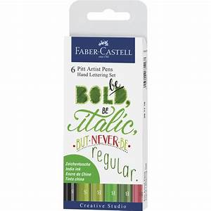 india ink pitt artist pen hand lettering set green With faber castell hand lettering kit