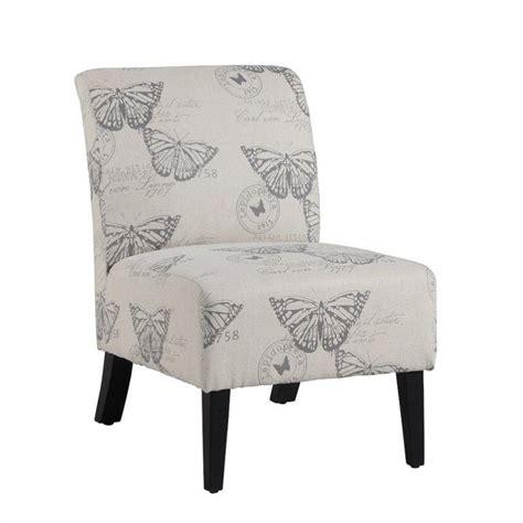 slipper chair in ivory animal print 98320butt01u