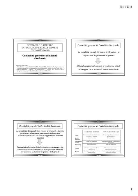 dispense contabilità costi per commessa e costi per processo dispense