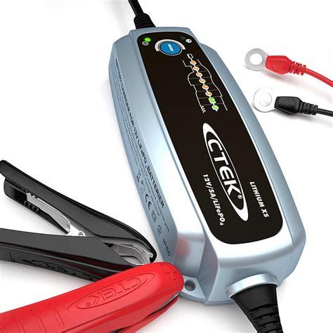 chargeur batterie lithium chargeur ctek lithium xs 12v 5a pour batteries lifepo4 charge les batteries au lithium optimis 233 e
