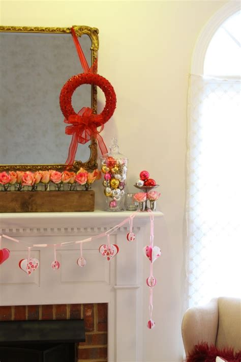 lovely valentine fireplace mantel decorating ideas