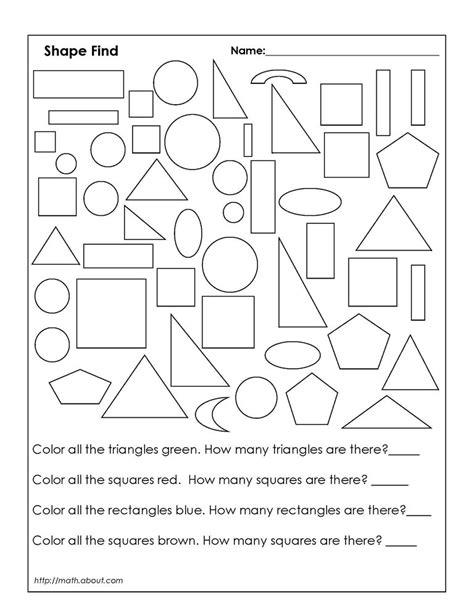 Geometric Shapes Worksheets For Grade 1 Homeshealthinfo