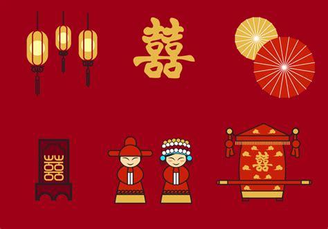 chinese wedding vector   vector art stock