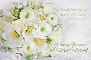 Glückwunschkarten Zur Goldenen Hochzeit : goldene hochzeit wei er strauss www stimmungs ~ Frokenaadalensverden.com Haus und Dekorationen