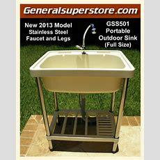 Portable Outdoor Sink Garden Camp Kitchen Camping Rv  Ebay